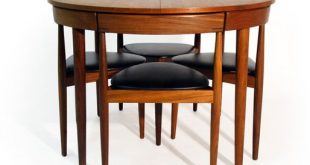 Photos of All Tucked In: Hans Olsenu0027s Super Space-Saving Dining Set space saving dining table