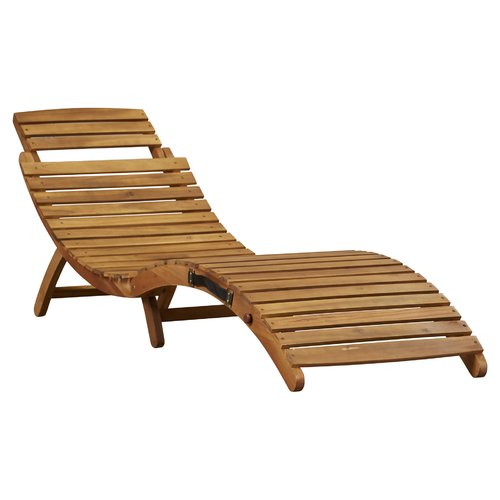 Photos of Bay Isle Home Philodendron Wood Outdoor Chaise Lounge wood chaise lounge outdoor