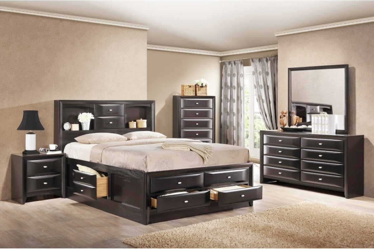 king bedroom sets with storage decorate your large room with a king size bedroom set 18999