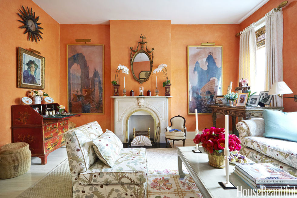 Photos of Bright Orange best living room paint colors