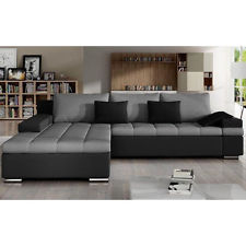 Photos of Corner Sofa Bed BANGKOK with Storage Container Faux Leather u0026 Fabric New corner sofa bed with storage