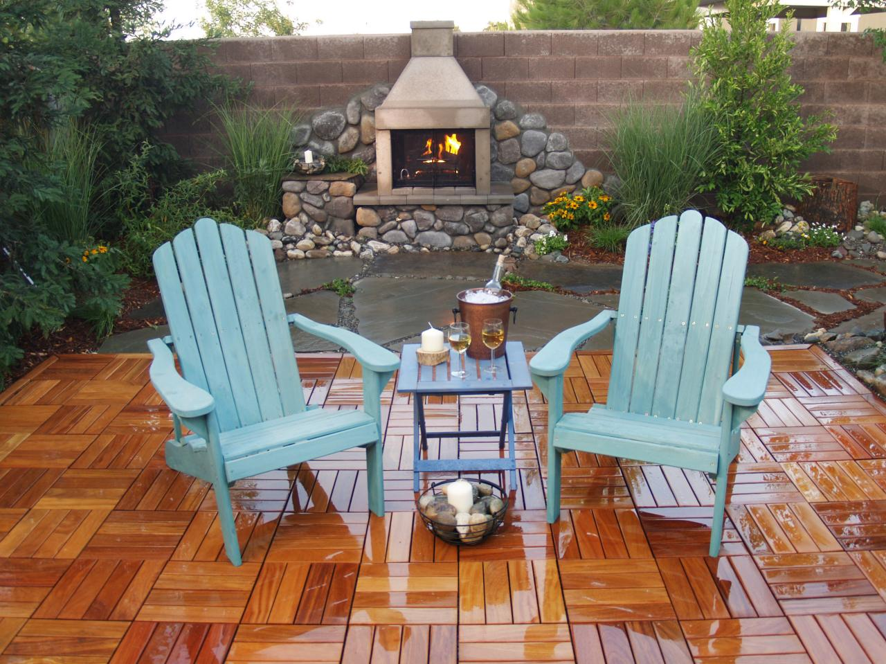 Photos of Featured in Yard Crashers episode  diy outdoor fireplace
