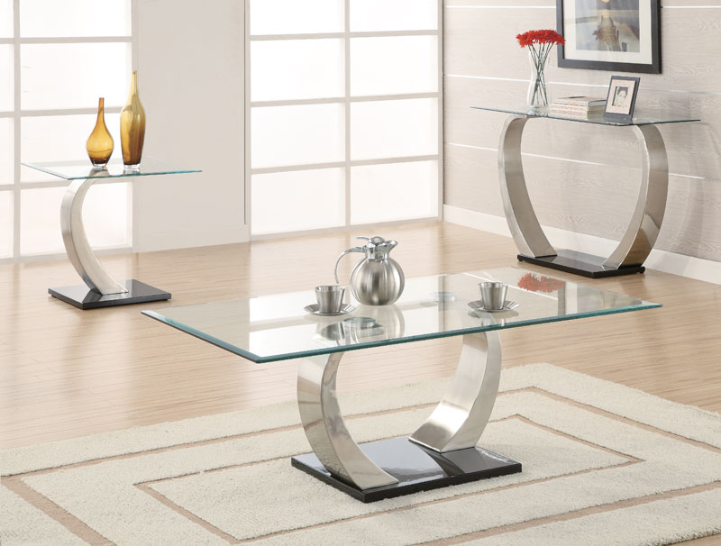 Photos of Glass Living Room Table Sets Rectangle Contemporary Clear Glass Top Coffee living room glass table sets