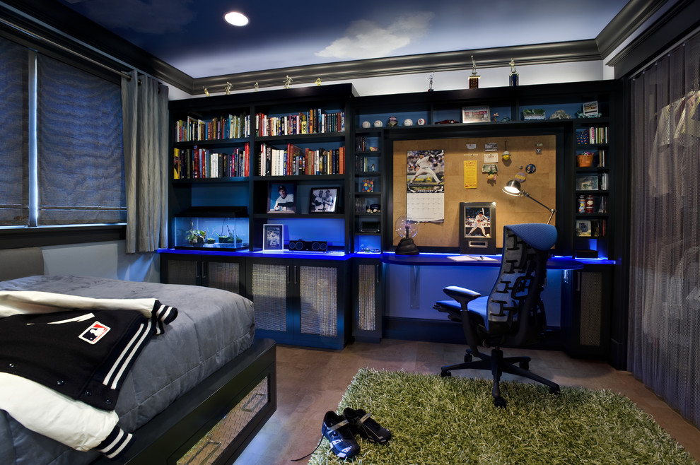 Photos of If your kid into video games, built-in lighting is one of those things cool teen bedrooms