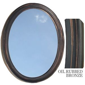Photos of Image is loading Bathroom-Mirror-Vanity-Oval-Framed-Wall-Mirror-Oil- bronze oval mirrors bathroom