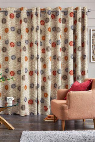 Photos of Next. Superzoom. Retro Floral Print Eyelet Curtains next retro floral curtains