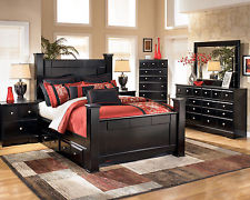 Photos of PARKWAY - Modern 5pcs Almost Black King Storage Poster Bedroom Set New black king size bedroom sets