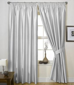 Photos of Silver Grey Curtains - Faux Silk Charisma - 66u0027u0027 x 72u0027u0027: silver grey curtains