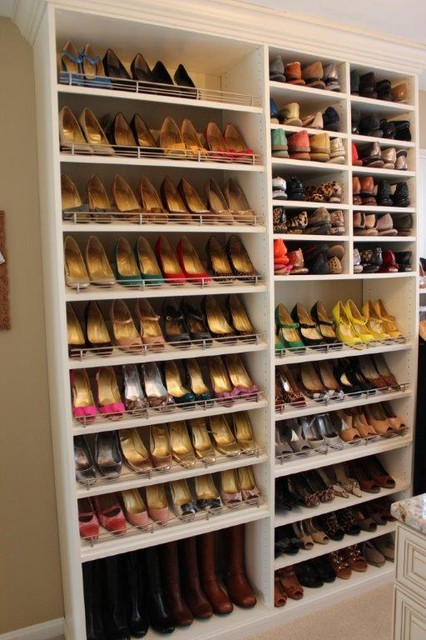 Photos of Spectacular Shoe Storage contemporary-closet shoe rack for closet