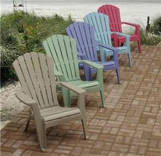 Photos of Stackable plastic Adirondack chairs plastic adirondack chairs