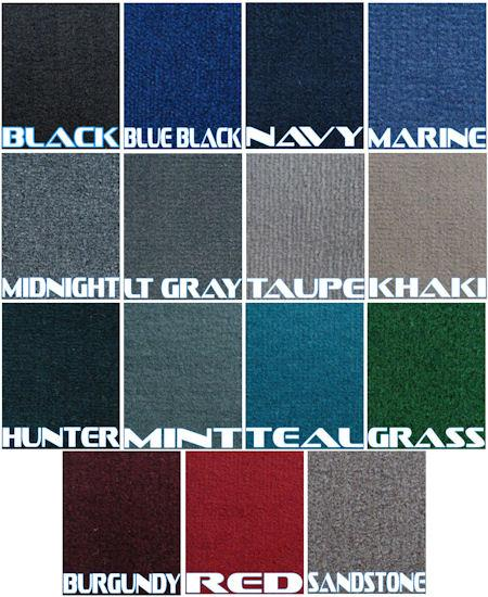 Pictures of 16oz boat carpet kit colors marine boat carpet