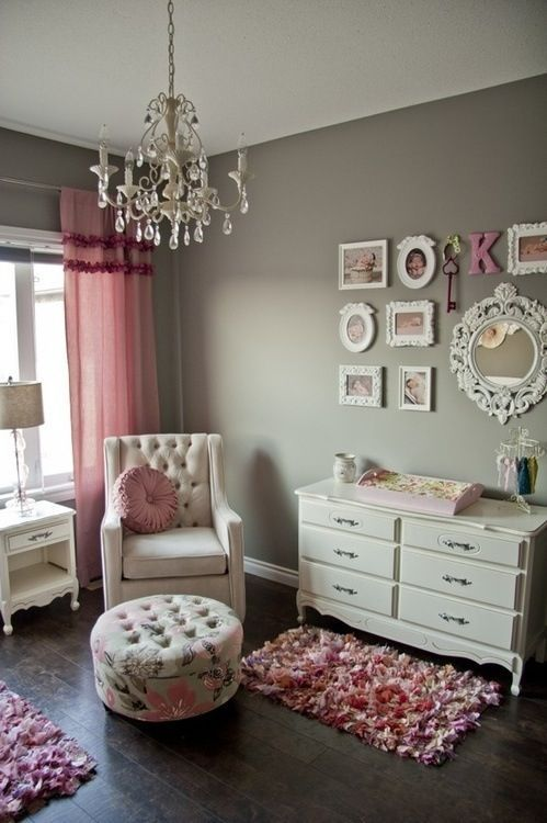 Pictures of All Things Pink and Girly (Finally baby girl room decor