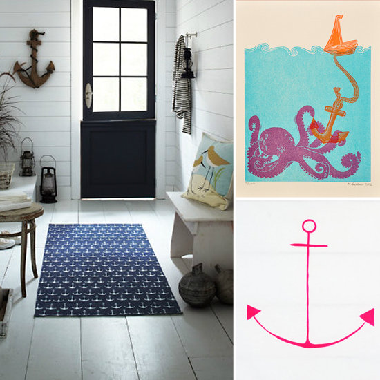 Pictures of Anchor Bathroom Decor Nautical Yellow Chevron Anchor Shower Curtain nautical anchor bathroom decor