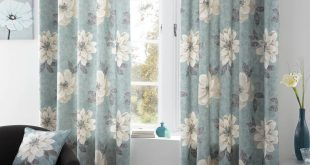 Pictures of Annabella Ready Made Eyelet Curtains duck egg blue curtains