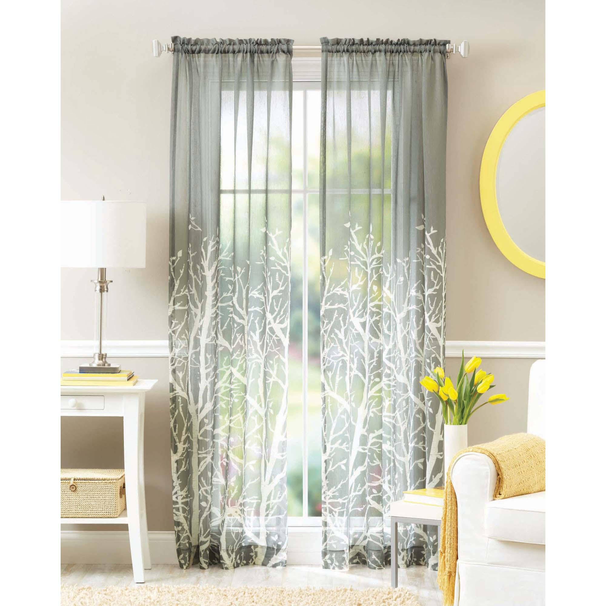 Pictures of Better Homes and Gardens Arbor Springs Semi-Sheer Window Panel sheer window panels
