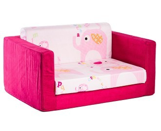 Pictures of CatchOfTheDay.com.au | Kids Wide 2-Seater Flip-Out Sofa - Elephant kids flip out sofa