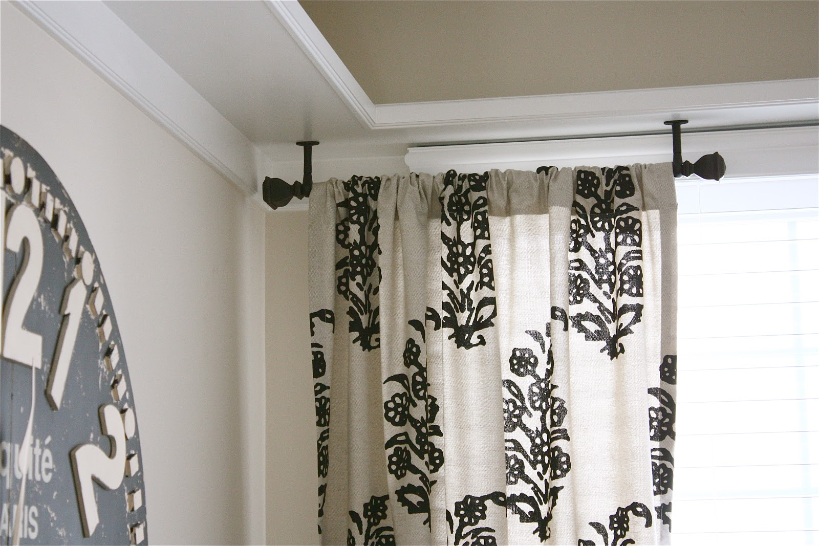 Pictures of Ceiling Mount Drapery Trick custom drapery rods