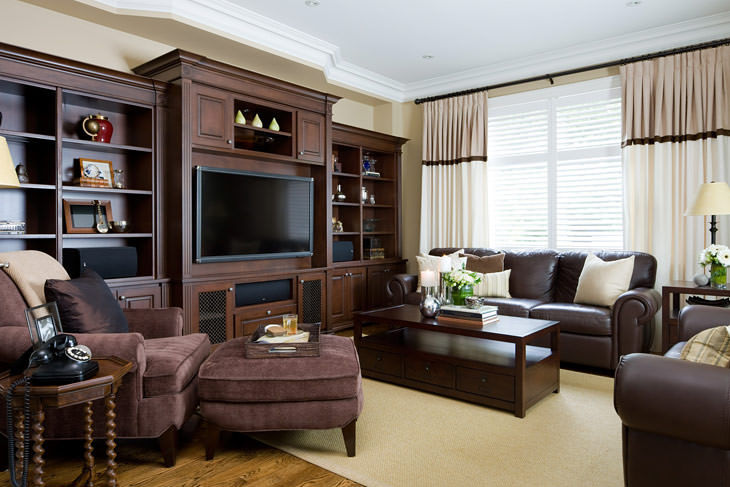 Pictures of classic_style_living_room. chocolate_living_room. brown_living_room.  living_room_by_Jane_Lockhart american interior design styles