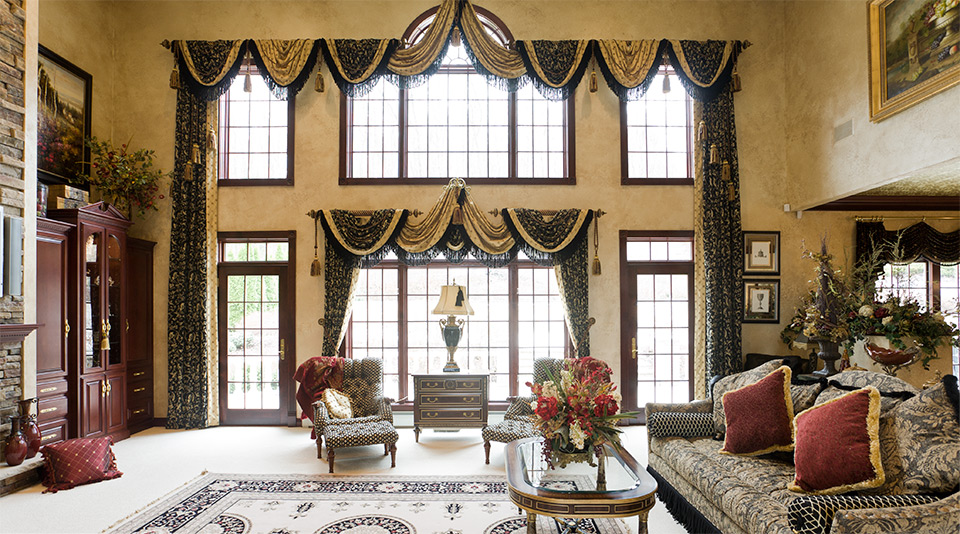 Pictures of Classic window treatment ideas that create a very timeless look. custom window treatments