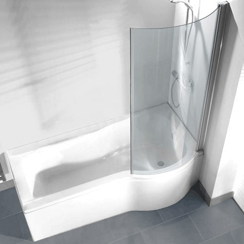 Pictures of Curved Return Screen for P Shaped Shower Bath replacement p shaped bath panel