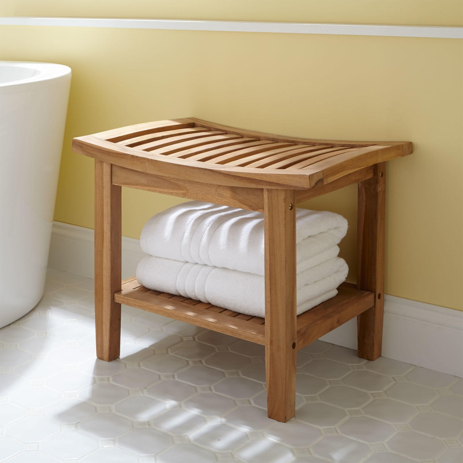 The simple additions for relaxing: bathroom stool