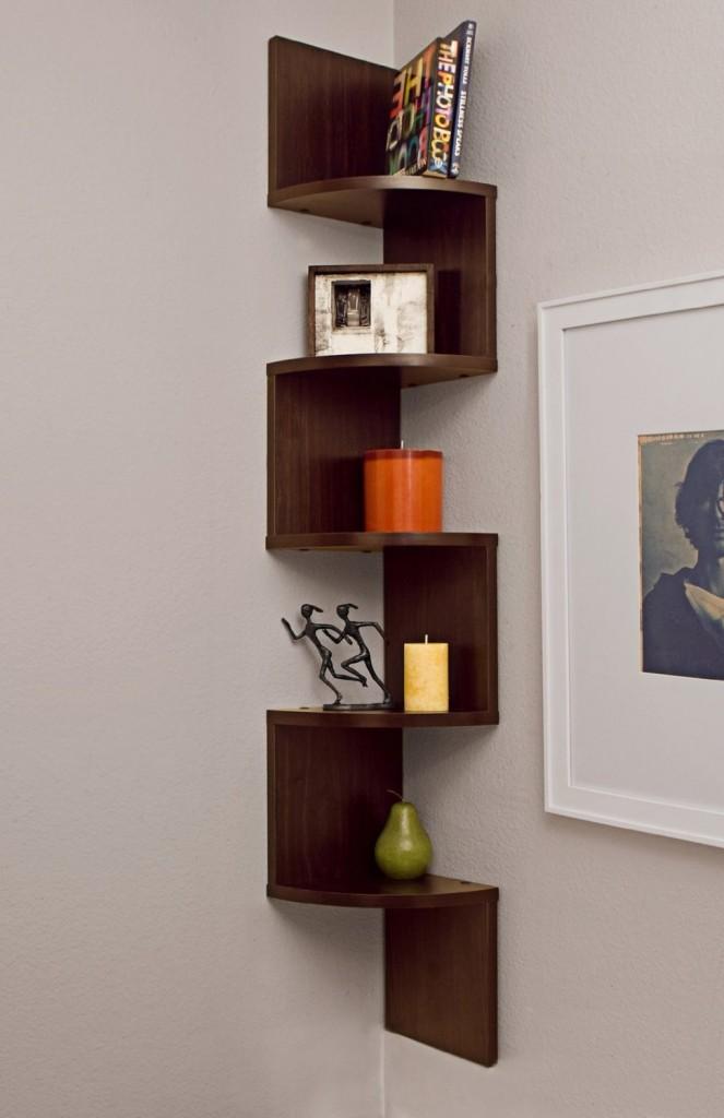 Pictures of Large Corner Wall Mount Shelf modern corner bookshelf