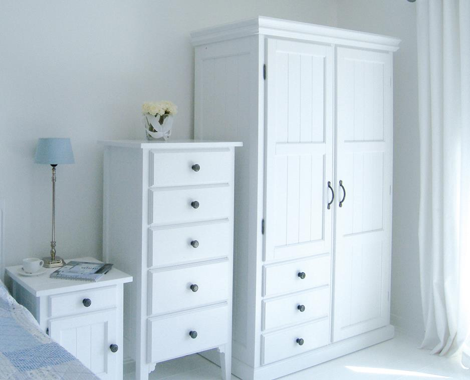 Pictures of Manhattan Double Wardrobe With Drawers: New England Style White Bedroom  Furniture double wardrobe with drawers