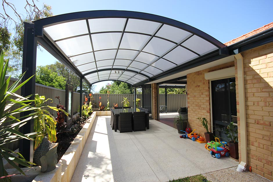 Pictures of Patio Livingu0027s vast experience in building steel additions to homes in steel pergola designs