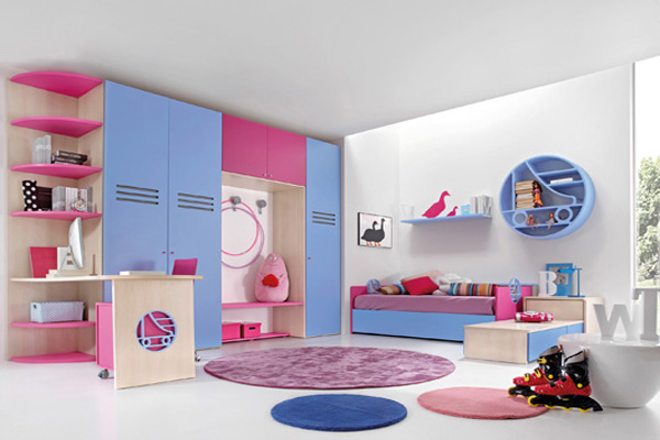 Cute and funky furniture for the childrens bedroom