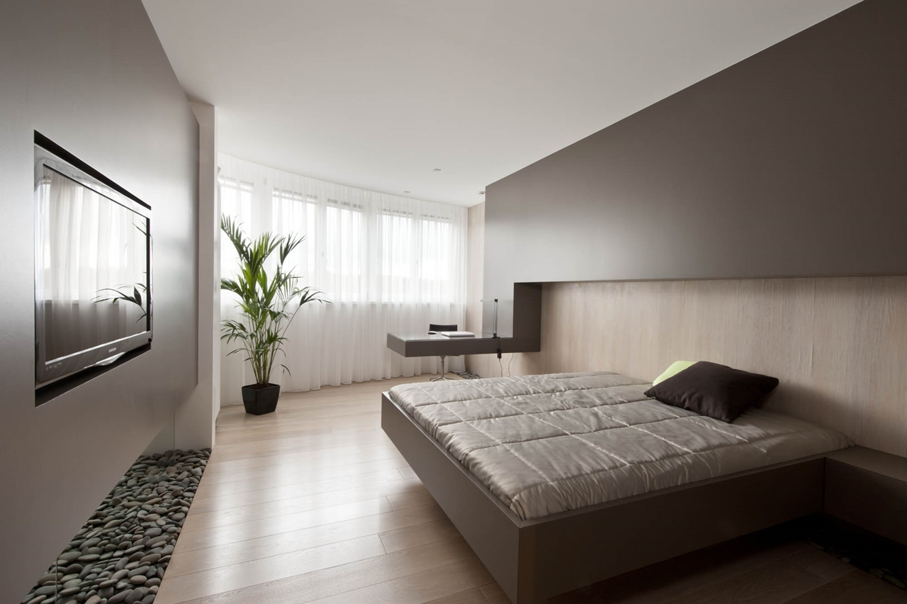 Pictures of Small modern bedroom in brown color by Alexandra Fedorova modern small bedroom designs