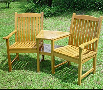 Pictures of Solid Oak Garden Love Seat - !!! SALE SALE SALE ! garden love seat