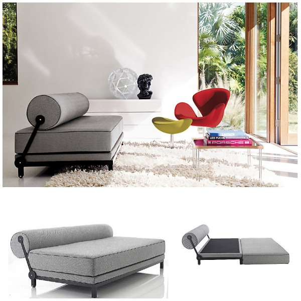 Pictures of View in gallery Grey sleeper sofa 2 small sleeper sofa