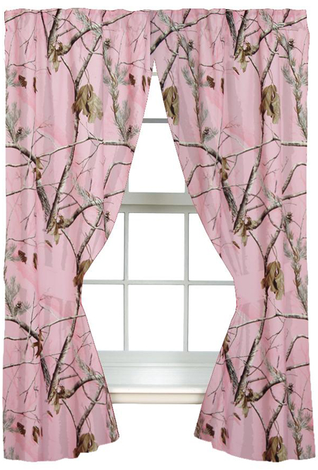 Cozy Girls Realtree® AP Pink Camo Curtains pink camo curtains