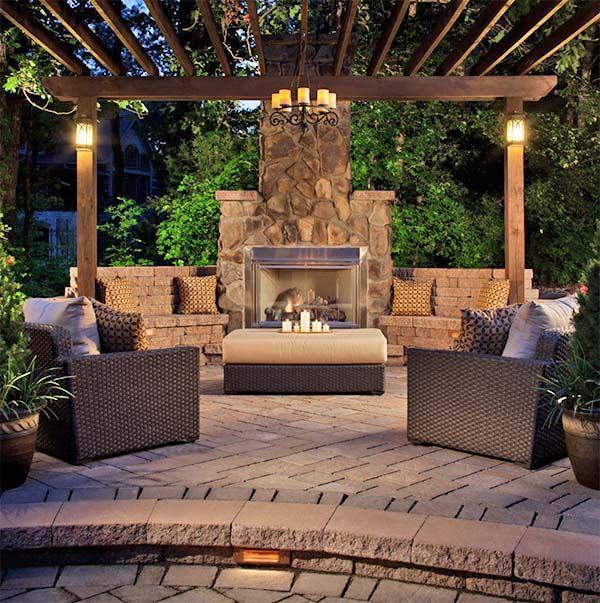 Popular 25+ best ideas about Backyard Fireplace on Pinterest | Outdoor patios, Outdoor outdoor fireplace patio
