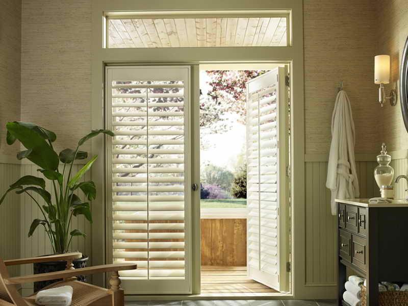 Popular Back Door Window Treatment Idea | 18 Photos of the Window Treatments for window treatments for french doors in bedroom