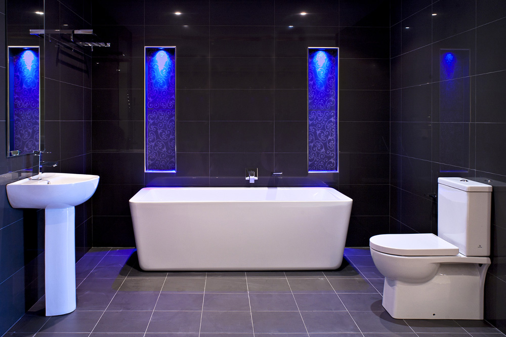 blue led bathroom lights the significance of led bathroom lights 17465
