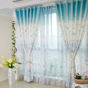Popular Beautiful and Pretty Bedroom or Living Room Blue floral curtains floral bedroom curtains