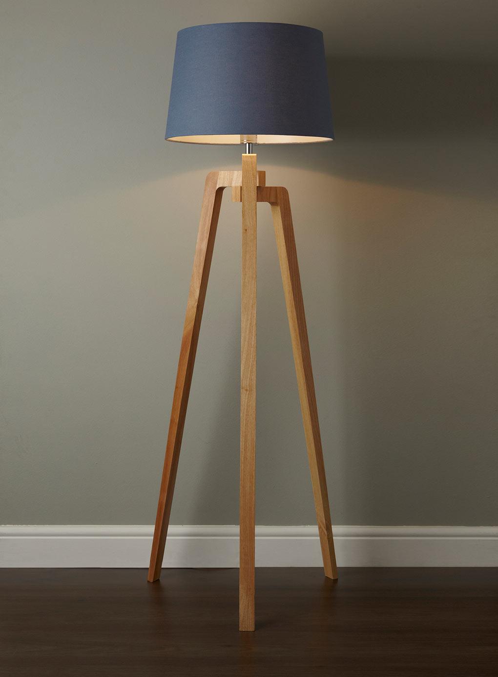 Popular Coby Wooden Tripod Floor Lamp wooden tripod floor lamp