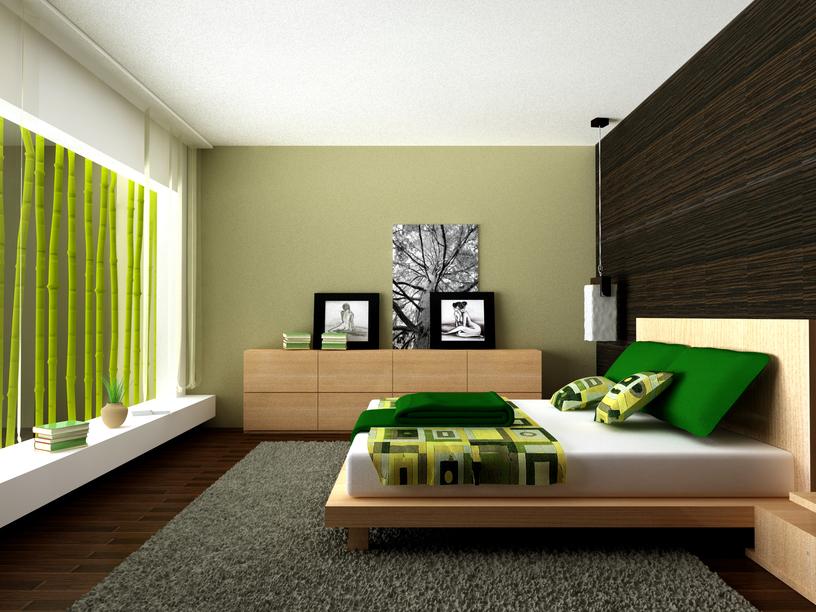 Popular Cool bedroom in sunken room with low wooden platform bed and white modern bedroom decor ideas