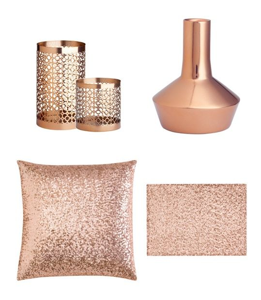 Popular Copper accents would look so warm and lovely in my living room... HM copper decorative accessories