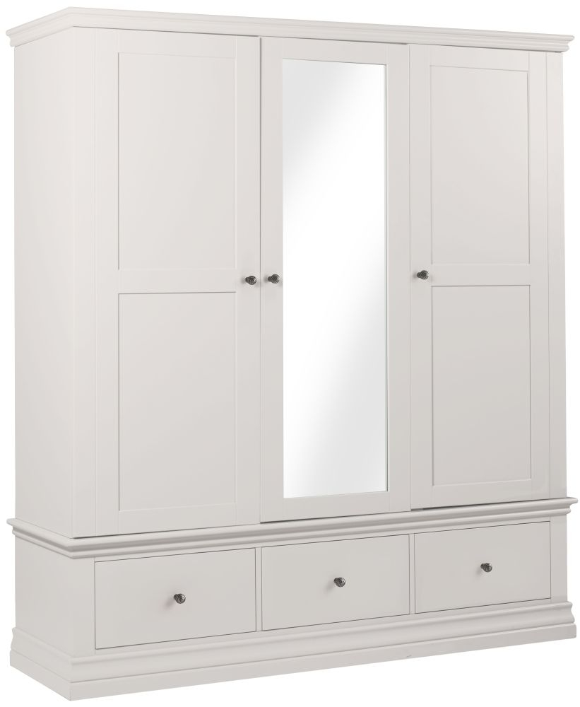 Popular Corndell Annecy White Triple Wardrobe white triple wardrobe