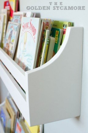 Popular Cute idea for the kids rooms! I love to read. Wall-mounted bookshelf ... wall mounted bookshelves for kids