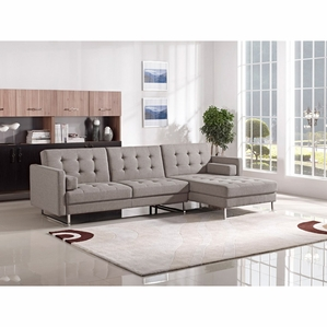 Popular Divani Casa Smith Modern Brown Fabric Sectional Sofa modern sectional sofas