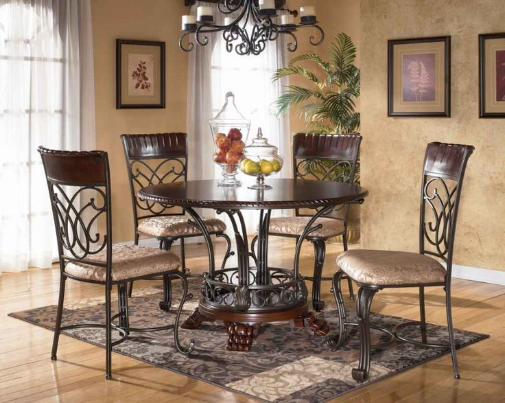 Popular Exquisite Round Kitchen Table Sets with Marble Surface: Elegant Dining Furniture round kitchen table and chairs