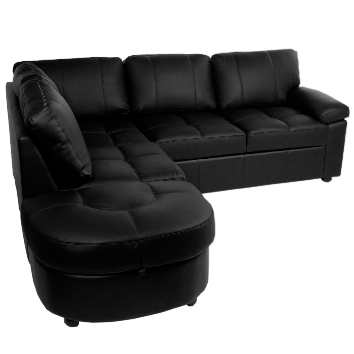 Popular ... Fancy Real Leather Corner Sofa Bed With Storage 51 For Velvet Air leather corner sofa bed with storage
