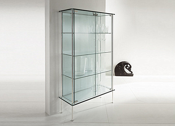 Popular Glass Cabinets for a Chic Display shelving units with glass doors