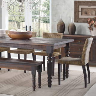 Popular Grain Wood Furniture Valerie 63-inch Solid Wood Dining Table wood dining table