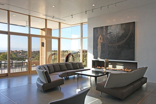Popular How to Decorate Large Living Room: Grey Living Room with Artwork modern large living room designs