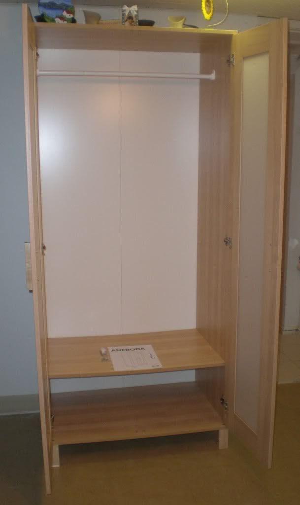 Popular Ikea Aneboda Wardrobe (Inside Look) Photo: Very spacious inside. Metal  hanging rod ikea aneboda wardrobe extra shelf