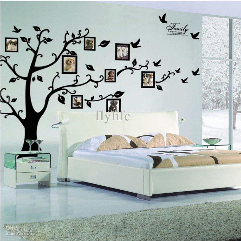 Popular Large Size Black Family Photo Frames Tree Wall Stickers, DIY Home wall stickers home decor